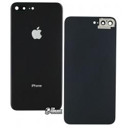 Задняя панель корпуса для iPhone 8 Plus, черная, со стеклом камеры