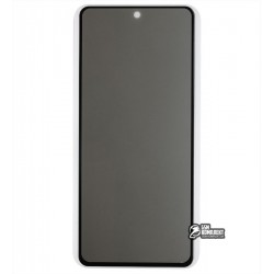 Закаленное защитное стекло для Samsung G770 Galaxy S10 Lite (2020), A915 Galaxy A91 (2020), 2.5D, Full Glue, Антишпион, черное