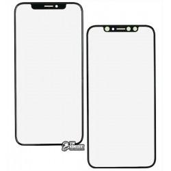 Скло дисплея Apple iPhone XS, з OCA-плівкою, чорний колір
