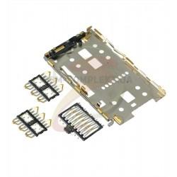 Коннектор SIM-карты на Meizu M5 Note, M3 Note, M2 Mini, M3 Mini, M3s, U10, MX5 Pro