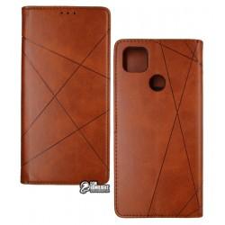 Чехол для Redmi 9C, Business, книжка, коричневый