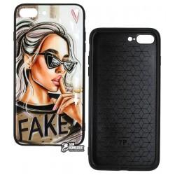 Чехол для iPhone 7 Plus, iPhone 8 Plus, Ladies Fake Prism, пластик-силикон