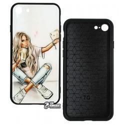 Чехол для iPhone 7, iPhone 8, iPhone SE (2020), Ladies Selife Prism, пластик-силикон