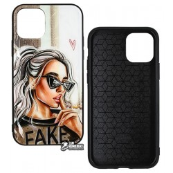 Чехол для iPhone 11 Pro, Ladies Fake Prism, пластик-силикон