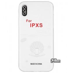 Чехол для Apple iPhone X/ XS, KST, силикон, прозрачный