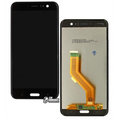 Дисплей для HTC U11, черный, с сенсорным экраном (дисплейный модуль)