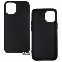 Чехол для Apple iPhone 12 mini, Joy (Black matt), матовый силикон, черный