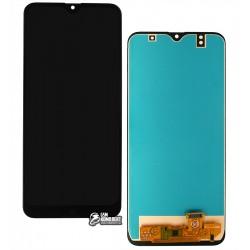 Дисплей для Samsung A307 Galaxy A30s, чорний, з сенсорним екраном, (TFT), СМІТТЮ