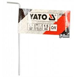 Ключ шестигранний YATO, L-подібний, 1,5мм