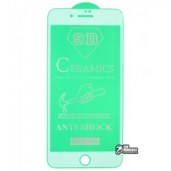 Защитное оргстекло для iPhone 7 Plus, iPhone 8 Plus, Ceramica, с фаской, белое