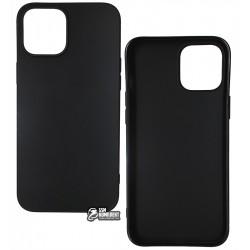 Чехол для Apple iPhone 12 Pro Max, Joy (Black matt), матовый силикон, черный