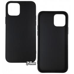 Чехол для Apple iPhone 12 / 12 Pro, Joy (Black matt), матовый силикон, черный