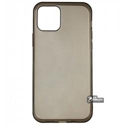 Чехол для Apple iPhone 12 / 12 Pro, силикон, прозрачно- черный