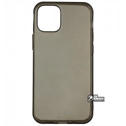 Чехол для Apple iPhone 12 mini, силикон, прозрачно- черный