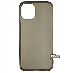 Чехол для Apple iPhone 12 Pro Max, силикон, прозрачно- черный
