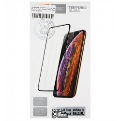 Закаленное защитное стекло для Apple iPhone 7 Plus, iPhone 8 Plus, 0,26 мм 9H, Tiger Glass, 3D, белое