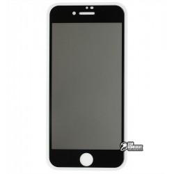 Закаленное защитное стекло для iPhone 7, iPhone 8, SE (2020), 2.5D, Full Glue, Антишпион, черное