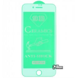 Защитное оргстекло для iPhone 7, iPhone 8, iPhone SE (2020), Ceramica, с фаской, белое