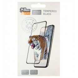 Загартоване захисне скло для Xiaomi Redmi 9A, Redmi 9C, 0,26 мм 9H, Tiger Glass, 2.5D, Full Glue, чорне