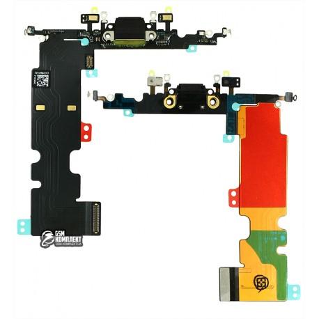 Шлейф для Apple iPhone 8 Plus, коннектора зарядки, черный