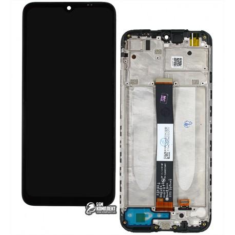 Дисплей Xiaomi Redmi 9A, черный, с сенсорным экраном (дисплейный модуль), c рамкой, Original (PRC)