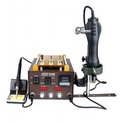 """Термоповітряна паяльна станція AIDA 939D зі вбудованим вакуумним сепаратором 9 """", фен, паяльник, третя рука"""