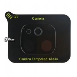 Закаленное защитное стекло на камеру для iPhone 11, 2,5D, Full Glue, черное