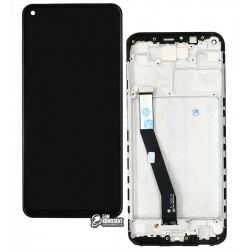 Дисплей Xiaomi Redmi Note 9, черный, с сенсорным экраном (дисплейный модуль), с рамкой, Original (PRC)