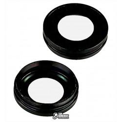 Скло камери Apple iPhone 7, чорний колір, з рамкою