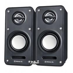 Акустична система 2.0 REAL-EL S-60 2 * 3W speaker, mini-jack 3,5 / USB