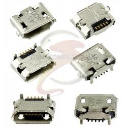 Коннектор зарядки Micro-USB для HTC A3333 Wildfire, A9191 Desire HD, G10, G6, G8 , T8585 Touch HD2, T9292 HD7, 5 pin, тип-B