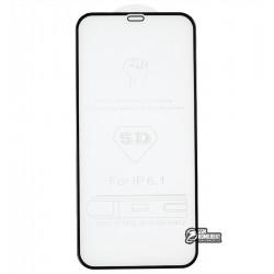 Закаленное защитное стекло для iPhone 12, iPhone 12 Pro, 4D Glass, 3D, черное