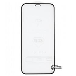 Закаленное защитное стекло для iPhone 12 Mini, 3D Glass, черное