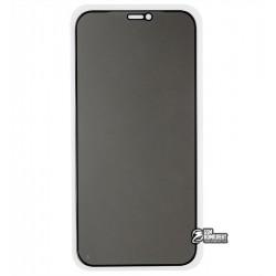 Закаленное защитное стекло для iPhone 12, iPhone 12 Pro, 2,5D, Full Glue, Антишпион, черное