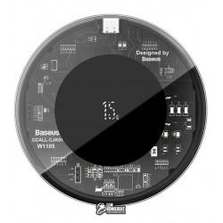 Бездротова зарядка Baseus Simple Wireless Charger 15Вт, прозора