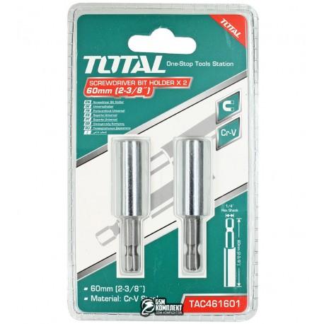 Магнитный держатель вставок бит TOTAL TAC461601 L= 60 мм, 2шт