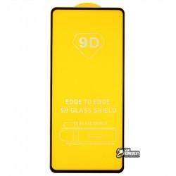 Загартоване захисне скло для Oppo A53, 2.5D, Full Glue, чорне