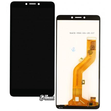 Дисплей Tecno Pop 2F (B1F), с сенсорным экраном (дисплейный модуль), черный