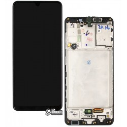 Дисплей Samsung A315 Galaxy A31, A315F/DS Galaxy A31, черный, с тачскрином, с рамкой, оригинал, service pack box, (GH82-22761A/GH82-22905A)