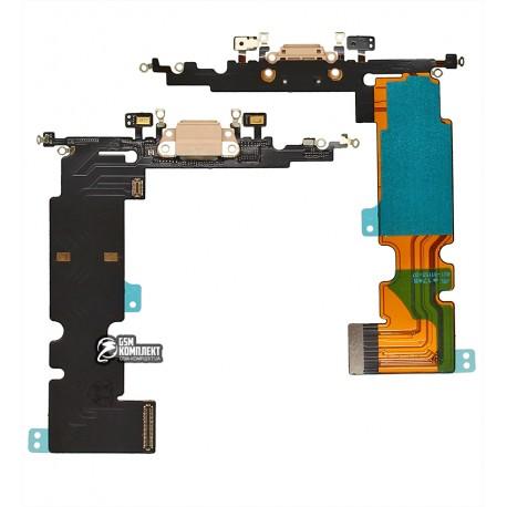 Шлейф для iPhone 8 Plus, коннектора зарядки, золотистый
