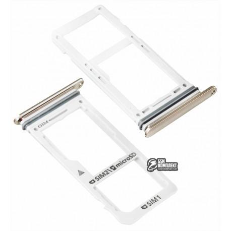 Тримач SIM-карти для Samsung N950FD Galaxy Note 8 Duos, золотистий