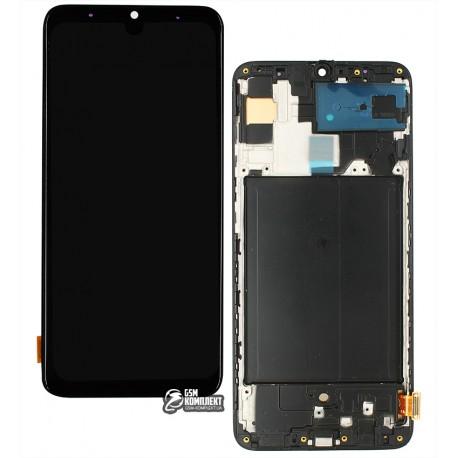Дисплей для Samsung A705 Galaxy A70, A705F/DS Galaxy A70, чорний, з сенсорним екраном, з рамкою, (OLED), High Copy