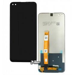 Дисплей Realme 6 Pro, чорний, з тачскріном, оригінал (дисплейний модуль)