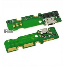 Шлейф для Huawei Ascend Mate MT1-U06, коннектора зарядки, с компонентами