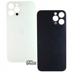 Задняя панель корпуса для Apple iPhone 12 Pro Max, белый, серебристый, без снятия рамки камеры, big hole, Silver