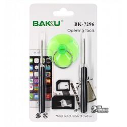 Набор инструментов BAKU BK-7296 для iPhone (отвертки: +1.3, pentalobe 0.8, Nano-sim адаптер, присоска)