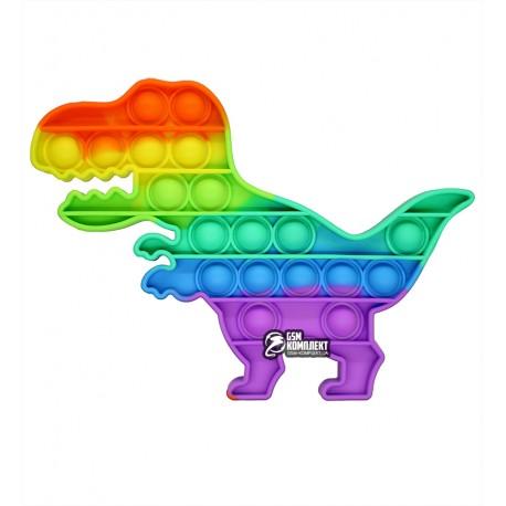 Pop-It динозавр радужный