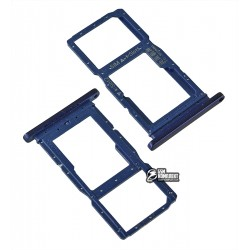 Держатель SIM-карты для Huawei P Smart Z, синий, c держателем MMC, Sapphire Blue
