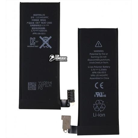 Аккумулятор для Apple iPhone 4, Li-ion, 3,7 В, 1420 мАч, #616-0513, High Copy
