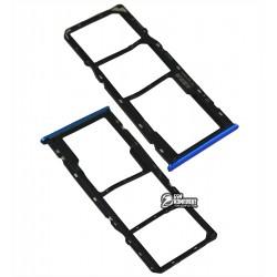 Держатель SIM-карты Realme 5, c держателем MMC, синий